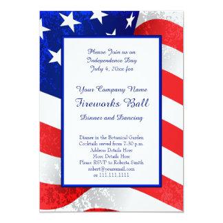 Patriota E.U. bandeira o 4 de julho americano Convite 12.7 X 17.78cm