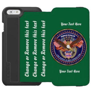 Patriótico vá dirigem para personalizar capa carteira incipio watson™ para iPhone 6