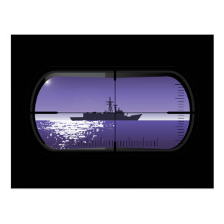 Patrulha submarina cartão postal