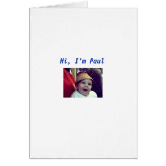 Paul Cartão Comemorativo