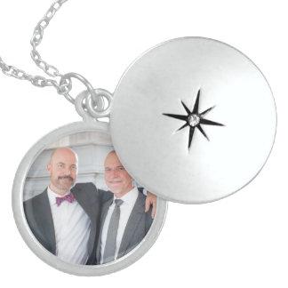 Paul + Colar do Locket da prata do casamento de