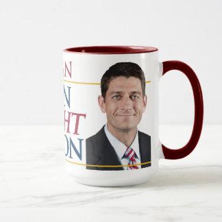 Paul Ryan uma caneca da etapa no sentido correto