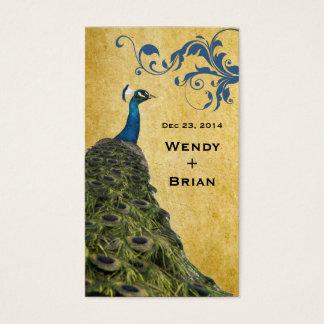 Pavão do vintage cartão de visitas