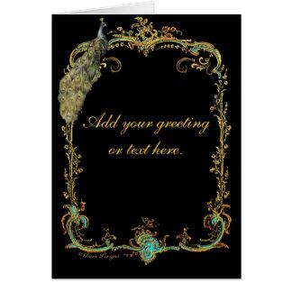 Pavão glorioso cartão comemorativo