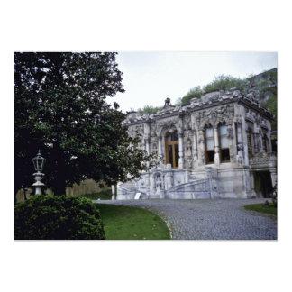 Pavilhão de Ihlamur, palácio de verão pequeno do Convite 12.7 X 17.78cm