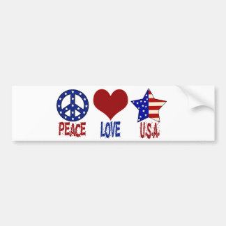 Paz, amor, autocolante no vidro traseiro dos EUA Adesivo Para Carro