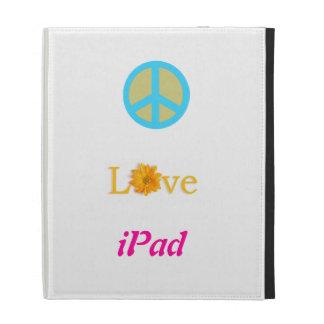 Paz, amor, capa de ipad