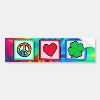 Paz, amor, irlandês adesivos