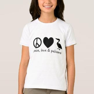 Paz, amor & t-shirt dos pelicanos
