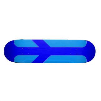 Paz azul shape de skate 19,7cm
