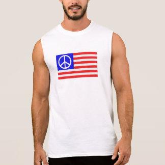 Paz da bandeira dos E.U. Camisas Sem Manga