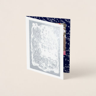 PAZ da natividade da foto no cartão de Natal da