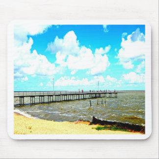 paz do céu do mar do praia mousepad