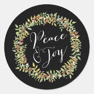 Paz e alegria - grinalda do Natal Adesivo