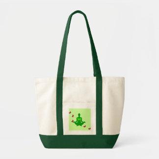 Paz e borboleta - sacolas da ioga bolsa tote