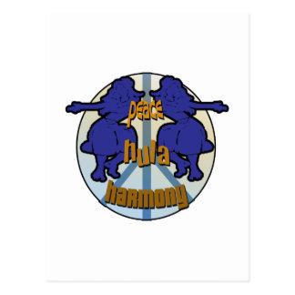 Paz, Hula, logotipo da harmonia Cartão Postal