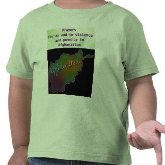 Paz na camisa da criança de Afeganistão Tshirt
