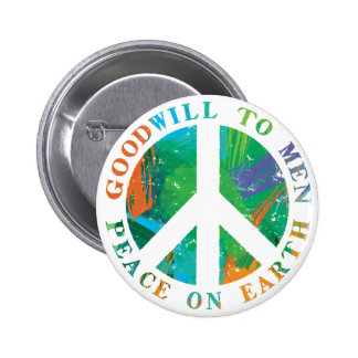 Paz na terra bóton redondo 5.08cm