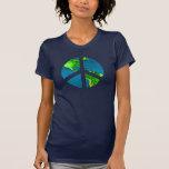 Paz no t-shirt da terra - muitos estilos & cores