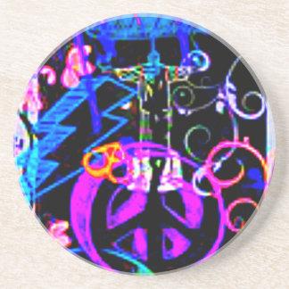 Paz para fora Susie Porta Copos De Arenito