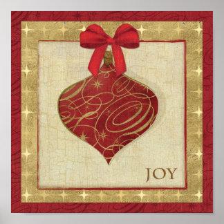 Paz vermelha da decoração do Natal Poster