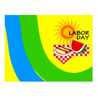 PC festivo dos convites do piquenique do Dia do Tr Cartão Postal