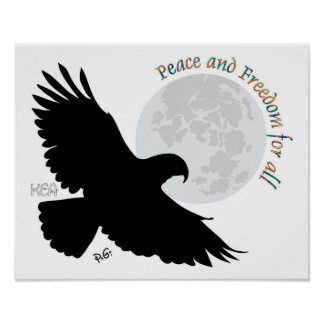 Peace and Freedom poster for todo Pôster