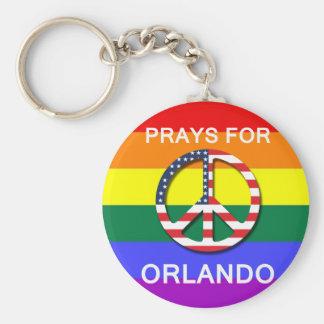"Peace Keychain 5,7 cm -  "" Prays For Orlando"" Chaveiro"