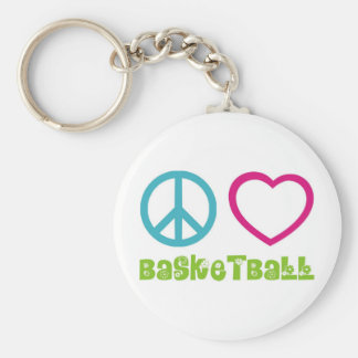 PEACELOVEsymbols-basketball. Chaveiro