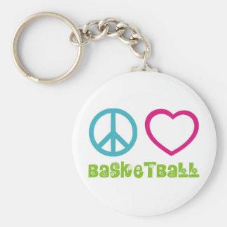 PEACELOVEsymbols-basketball. Chaveiro