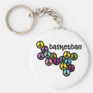 peacesignswithcolorfulfill-basketball-10x10 chaveiro