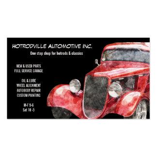 Peças automotrizes & carro clássico vermelho de cartão de visita