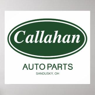 Peças de automóvel de Callahan Pôsteres
