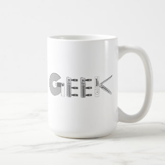 Peças do computador do geek caneca