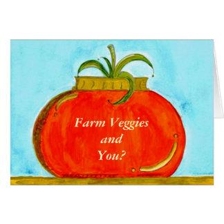 PedagogyGreetings: Tomate puro (customizável) Cartão Comemorativo