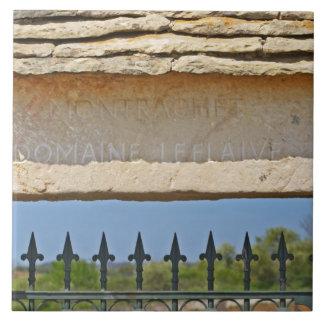 Pedra da porta e da chave cinzelada com Montrachet Azulejo Quadrado Grande