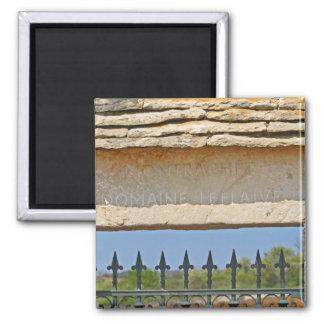 Pedra da porta e da chave cinzelada com Montrachet Imã De Geladeira