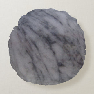 Pedra de mármore cinzenta da rocha almofada redonda