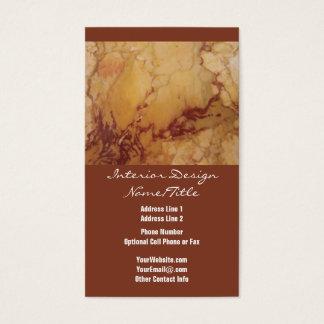 Pedra de mármore luxuosa de Tan Brown da elegância Cartão De Visitas