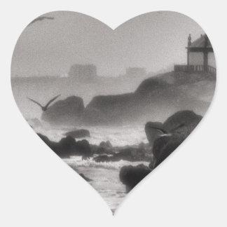 Pedra do senhor adesivo coração