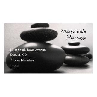 Pedras da massagem cartão de visita