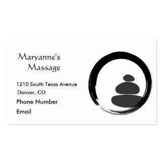Pedras da massagem e círculo de Enso Cartão De Visita