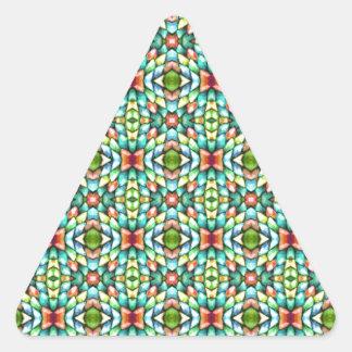 Pedras dos azulejos de mosaico do arco-íris adesivo triangular