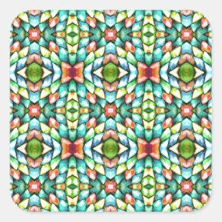 Pedras dos azulejos de mosaico do arco-íris adesivo quadrado