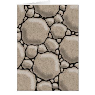 Pedras e seixos cartão