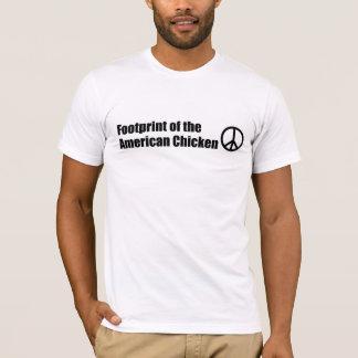 Pegada da galinha americana t-shirt