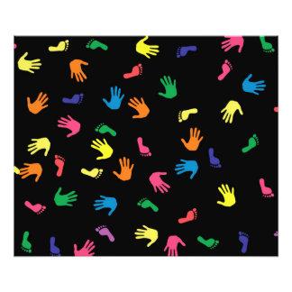 Pegada de Handprint colorido Impressão De Foto