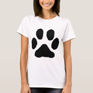 Pegada do gato camisetas