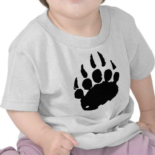 Pegada do urso camiseta