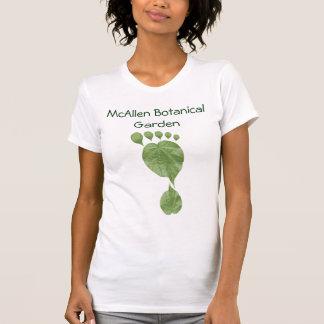Pegada verde customizável da folha tshirt